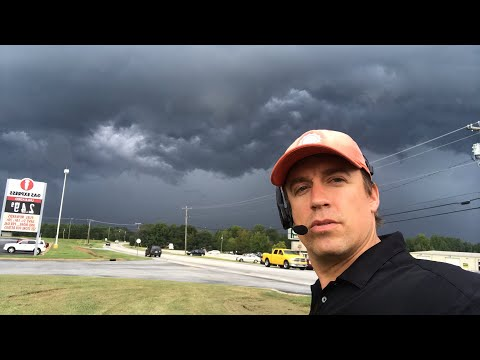 Live VLOG with storms near Greenville, SC; heading to intercept Hurricane Florence
