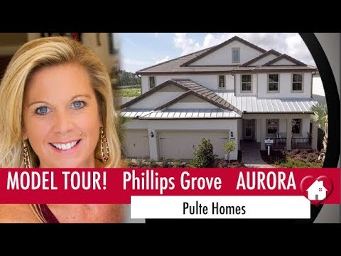 New Homes Winter Garden Dr. Phillips Aurora Model Home at Phillips Grove by Pulte