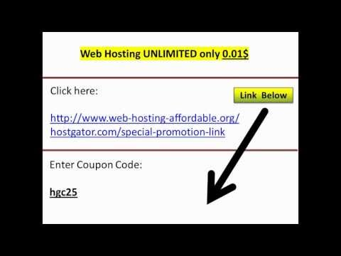 Web Hosting Hostgator coupon code 99% OFF –  0.01$ (1 CENT)