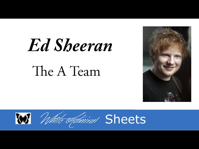 The A Team cover - Birdy (Piano Accompaniment) Chords - Chordify