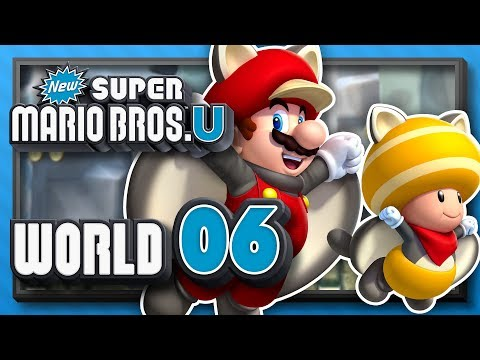 New Super Mario Bros. U Part 6 - World 6: Rock-Candy Mines! (4 Player)