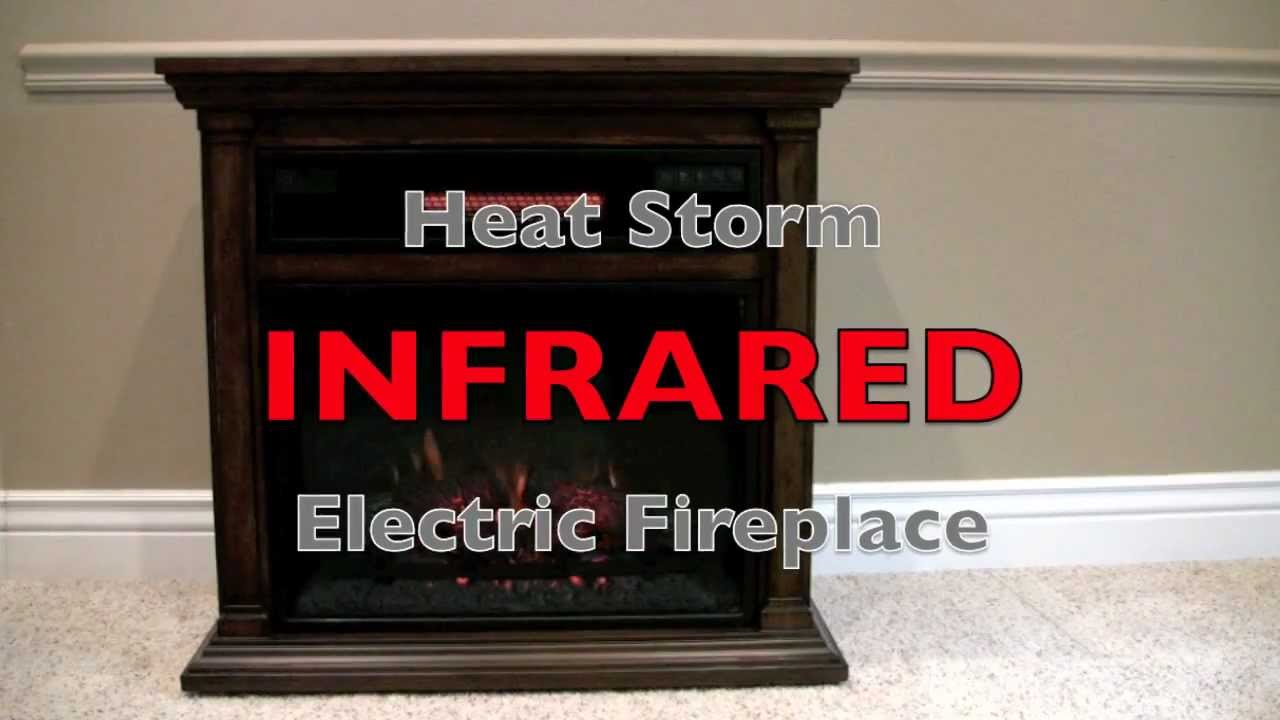 heat storm infrared electric fireplace youtube