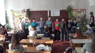 6 б класс 6 школа Северодонецк 8 марта  поздравление девочек