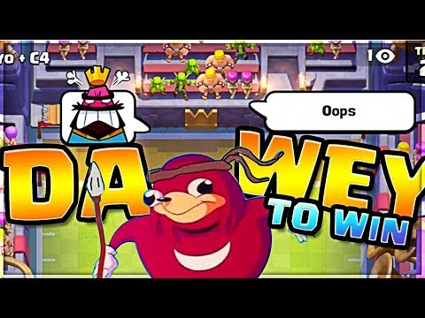 i will show you DA WEY... TO WIN Clash Royale
