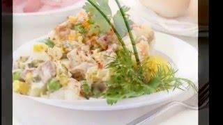 Варианты сервировки салата Оливье