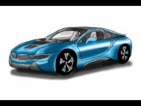 How To Draw A Bmw I8 Youtube