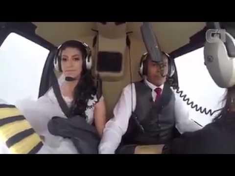 Noiva Morre em queda de helicóptero no dia do casamento