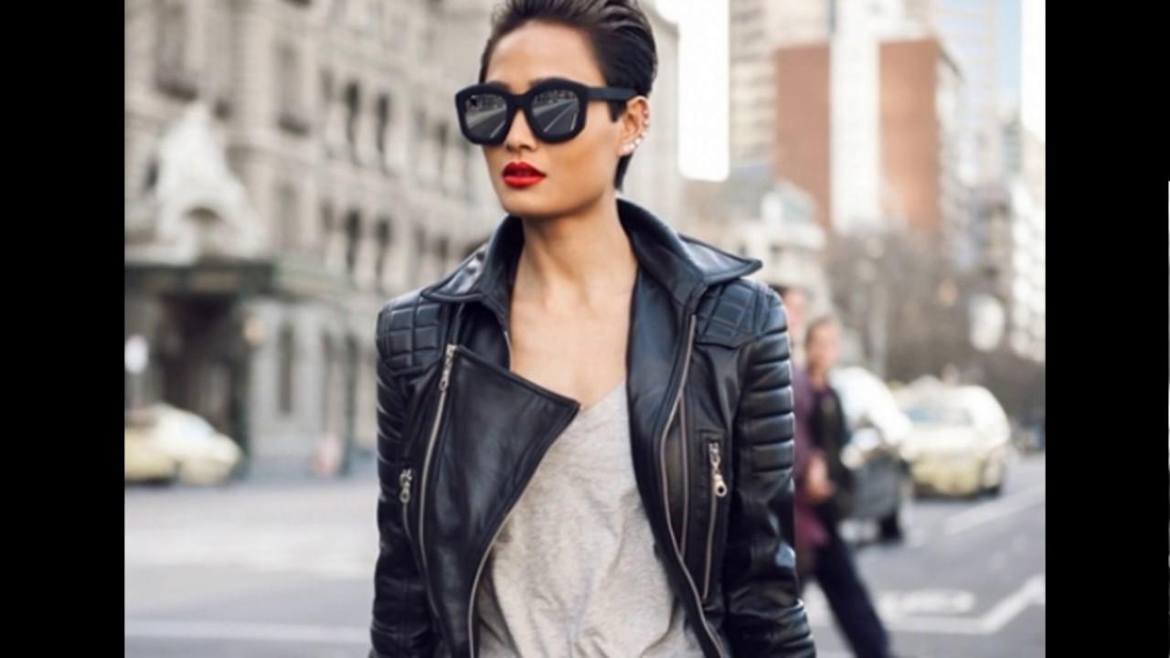 Женская вышитая кожаная куртка - YouTube
