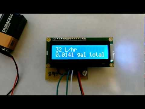 Arduino based water dispenser. (Flow Meter, Solenoid Valve) Flow meter test.