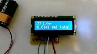 Arduino based water dispenser. (Flow Meter, Solenoid Valve) Flow meter test.