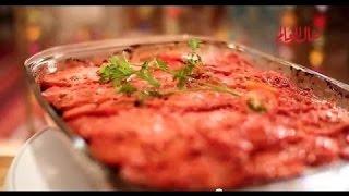 صينية الكبدة بالبطاطس مطبخ منال العالم