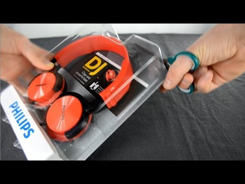Philips SHL3000 dj headphone unboxing, first look + test