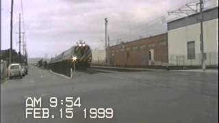 Morning Amtrak San Diegan and Coaster Trains back in February 1999