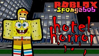 SPONGEBOB MENGINAP DI HOTEL HORROR!! 👻 - Roblox Spongebob Indonesia