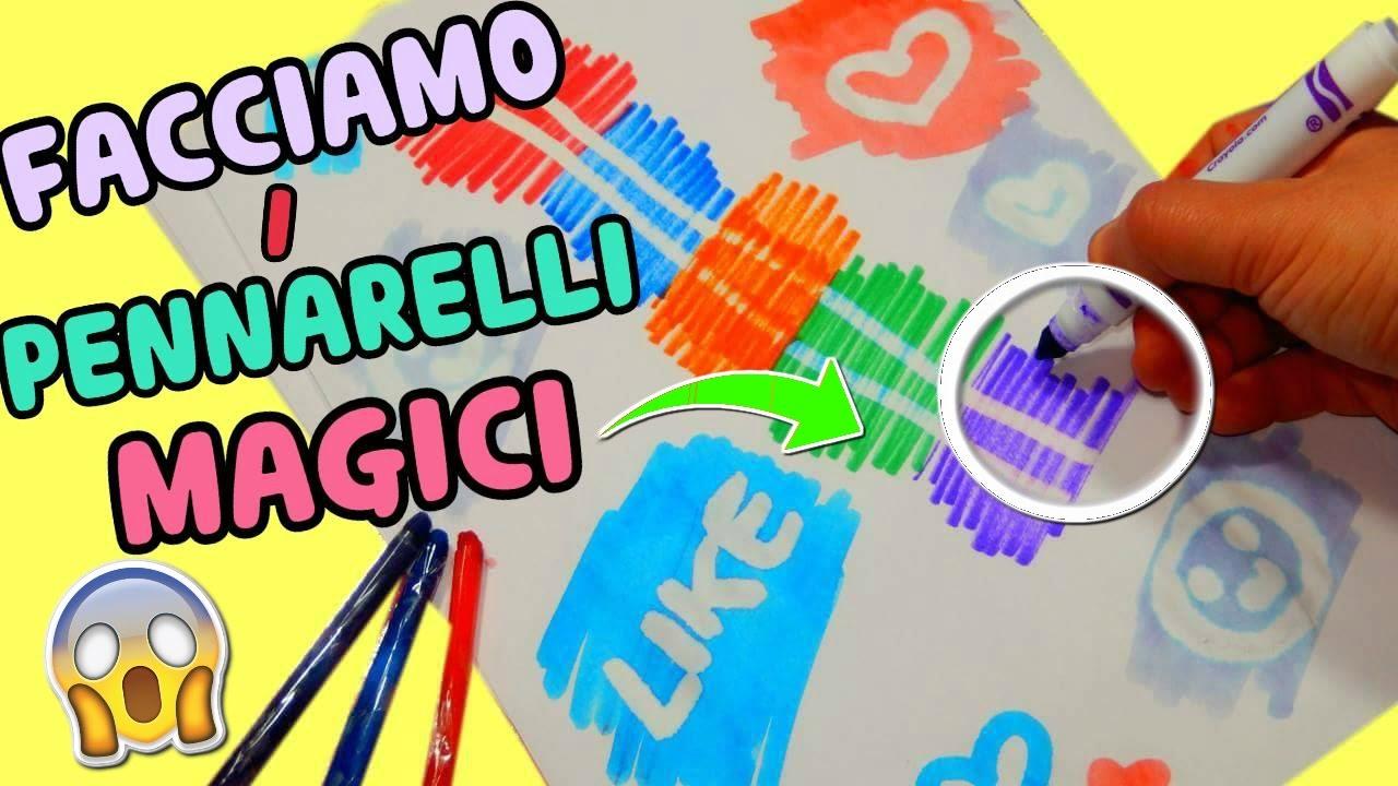 Facciamo I Pennarelli Magici Cambiano Colore Esperimenti Creativi