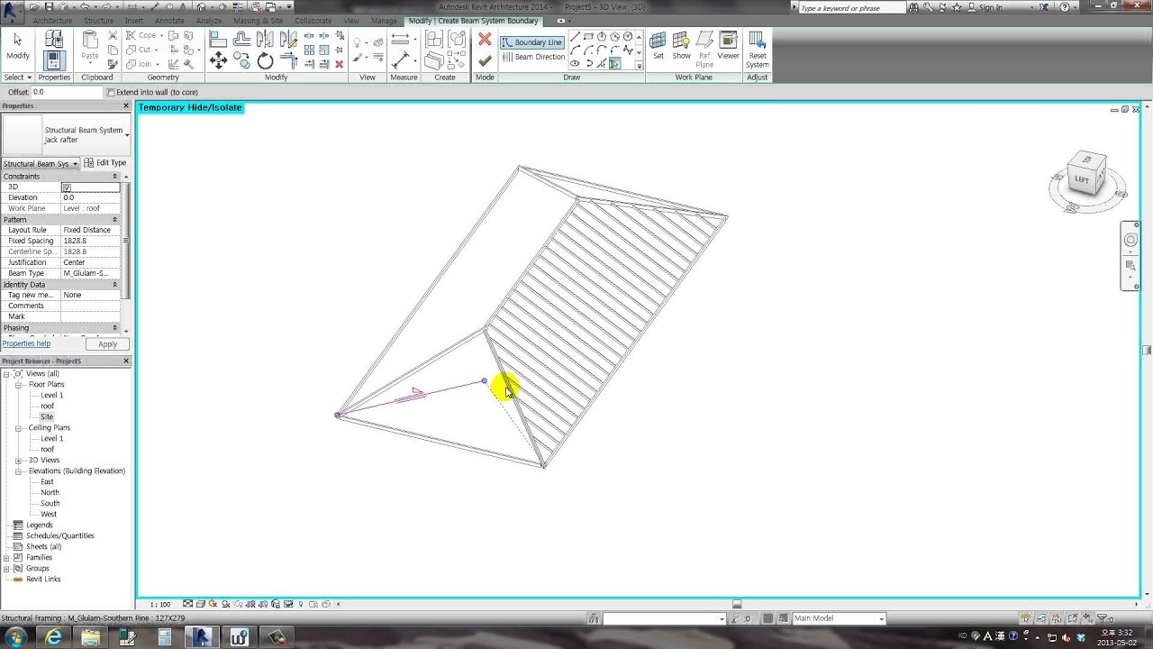 Revit Tips - Creating Rafters with Beam System