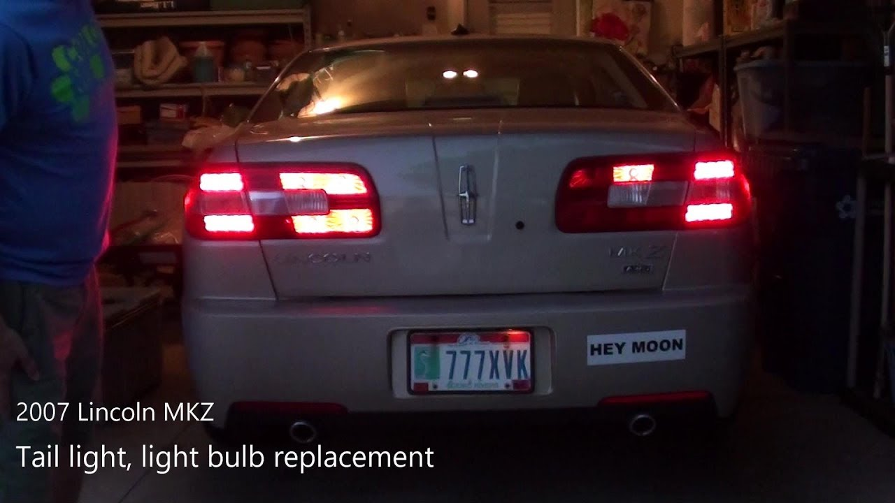 2007 Lincoln Mkz Tail Light Bulb Replacement