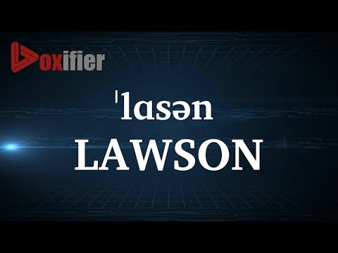 How to Pronunce Lawson in English - Voxifier.com