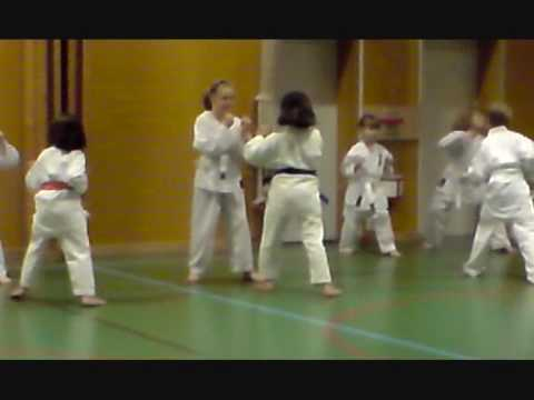 Jäntans karate-träning (fighting)