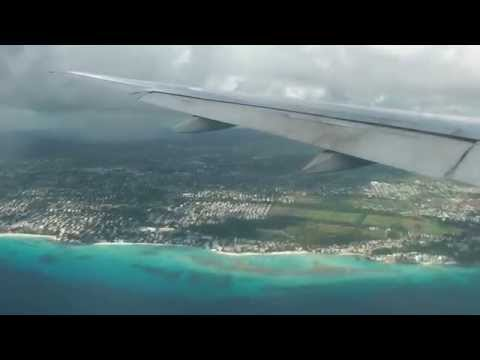British Airways Boeing 777 Landing at Grantley Adams International Airport, Barbados