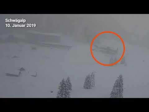 Webcam zeigt Lawine auf der Schwägalp