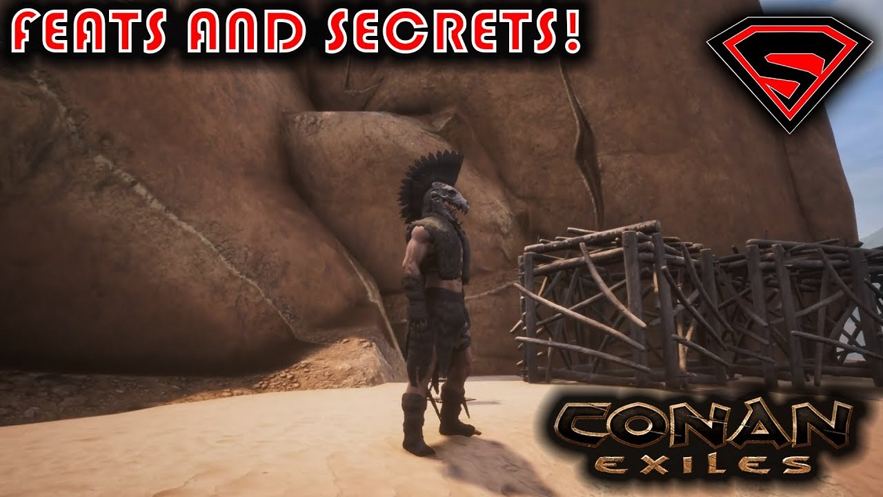CONAN EXILES HIDDEN FEATS - FEAT LOCATIONS SPECIAL ARMORS AND BUILDING  PIECES