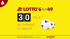 LOTTO-Jackpot: 30 Mio. € am Mittwoch, 23.01.2019