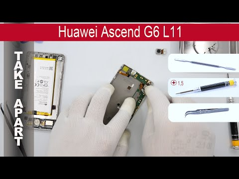 How to disassemble 📱 Huawei Ascend G6, Take apart, Tutorial
