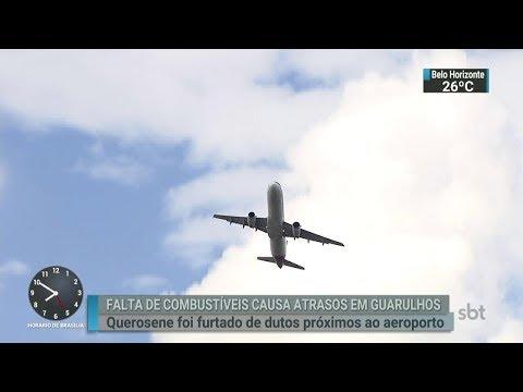 Furto de querosene em aeroporto provoca o cancelamento de voos | SBT Brasil (27/02/18)