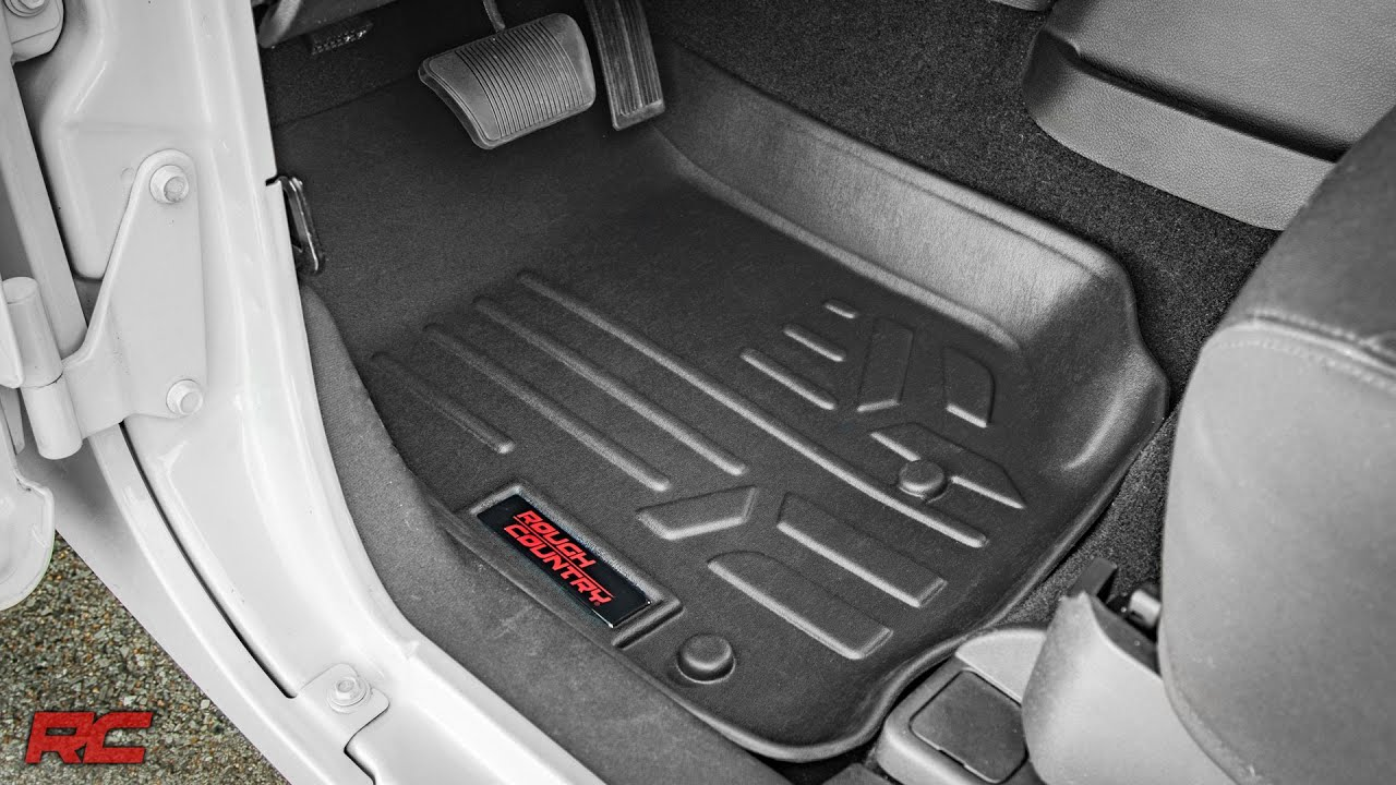 How to unlock weathertech floor mats - Jeep Wrangler Jk Floor Armor Heavy Duty Floor Mats By Rough Country Youtube