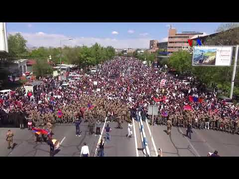 Impressive Scene In Yerevan, Armenia When Soldiers Join The People