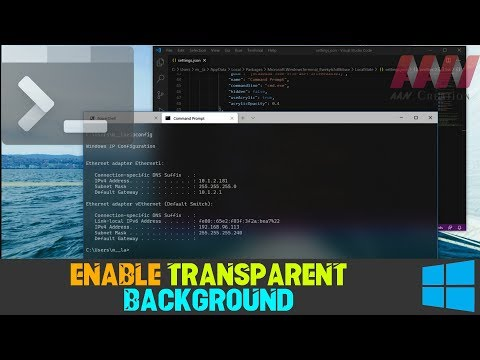 How to Enable Transparent Background on Windows Terminal