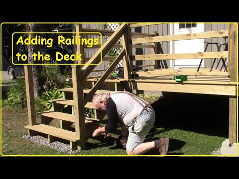 Adding Railings to Deck