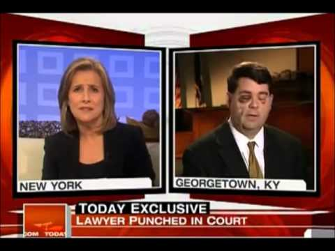 Awkward 3 second delay Lawyer Punched by Client in Courtroom