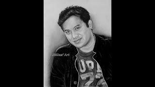 Portrait Drawing of Neel Akash Da .. Work in progress.. Art by Jayanta Madhab Das
