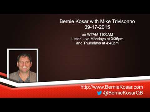 Bernie Kosar with Mike Trivisonno on WTAM 09-17-2015
