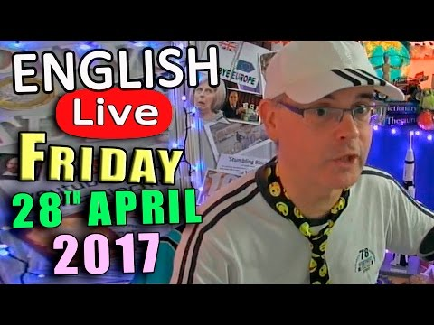 Learn English Live - FRIDAY APRIL 28th 2017 - English Lesson with Duncan - English idioms