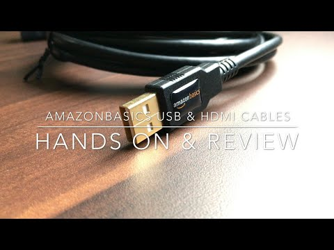 AmazonBasics HDMI Cable & USB Cable  Review & Hands On