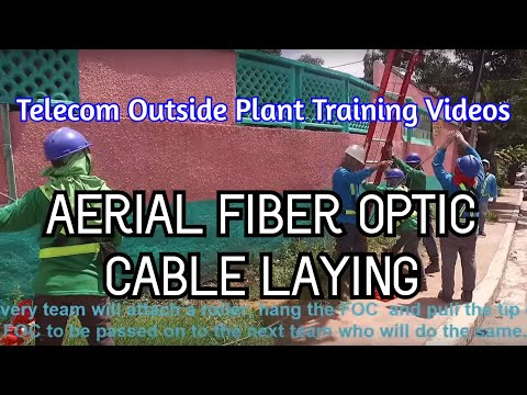 Fiber Optic Cable Laying on Aerial Application