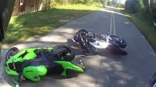 Motorcycle Crash - 2 Bikes Down