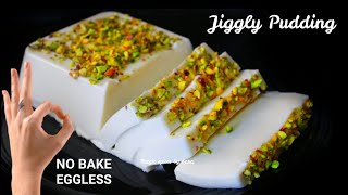 Jiggly Milk Pudding in 5 Minutes  Eggless No Bake Milk Pudding Recipe