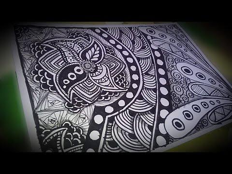 How To Created Mandala Zentangle Simple And Beauty Youtube