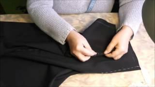 Шитье прямой юбки. Урок 3. Сметывание изделия