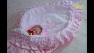 Одеяло на выписку для новорожденного. Одеяло, уголок, бант