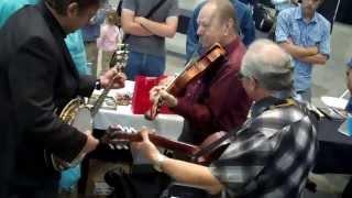 IBMA 2013 Bobby Hicks Violin and Jens Kruger banjo and Raymond McLain on Guitar