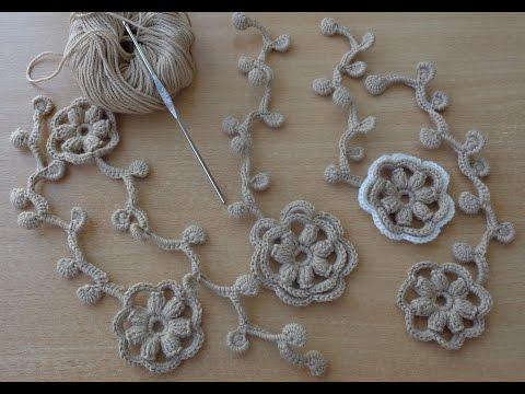 Уроки вязания цветка
