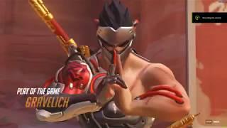 Overwatch Genji Play Of the Game quadruple kill