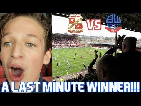A LAST MINUTE WINNING GOAL IN THE AWAY END!!! Swindon Town VS Bolton Wanderers!