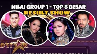 nilai tadi malam result show top 8 besar d star group 1 selfi reza weni ical