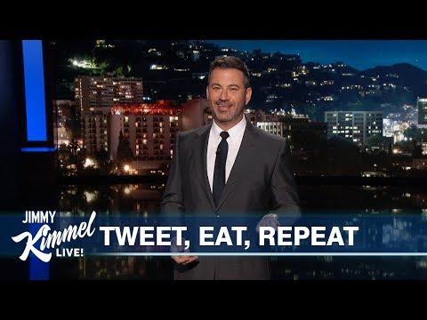 Jimmy Kimmel Mocks Trump's Daily Schedule: 'Eat, Tweet, Sleep, Tweet, Repeat'